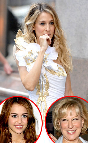 Sarah Jessica Parker, Sex and the City, Bette Midler, Miley Cyrus
