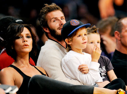 Victoria Beckham, David Beckham, Cruz Beckham, Romeo Beckham