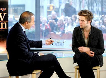 Matt Lauer, Robert Pattinson, Today Show