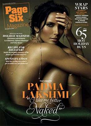 Padma Lakshmi, Page Six Magazine, Cover