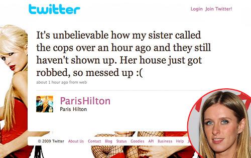 Paris Hilton, Twitter