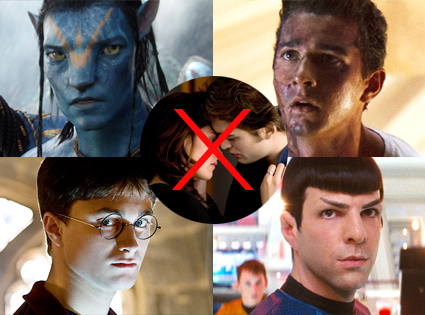Avatar, Transformers, Harry Potter Half Blooded Prince, Star Trek, New Moon