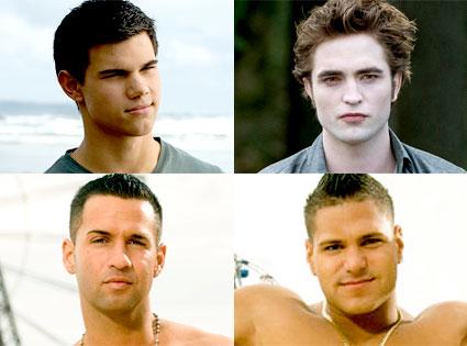 Taylor Lautner, Robert Pattinson, New Moon, Mike, Ronnie, Jersey Shore