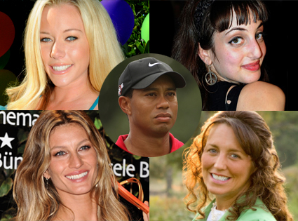 Kendra Wilkinson, Alexa Ray Joel, Gisele Bundchen, Michelle Duggar, Tiger Woods