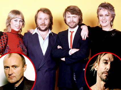ABBA, Phil Collins, Iggy Pop