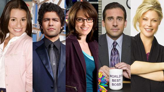 Lea Michele, Glee, Adrian Grenier, Entourage, Tina Fey, 30 Rock, Stever Carell, The Office, Julie Bowen, Modern Family