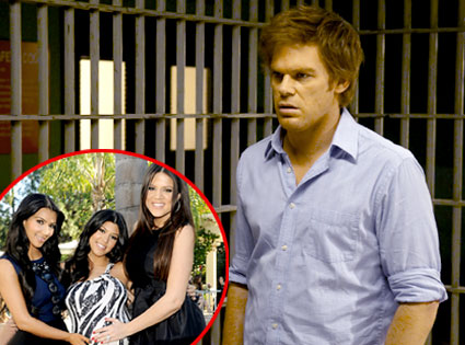 Michael C. Hall, Dexter, Kim Kardashian, Kourtney Kardashian, Khloe Kardashian Odom