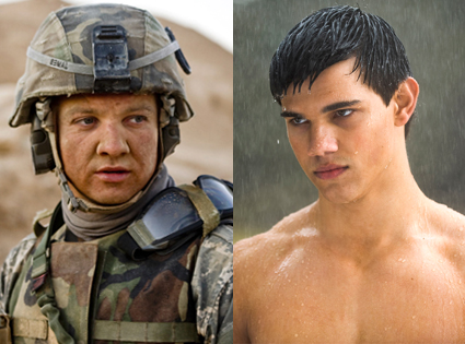 Jeremy Renner, The Hurt Locker, Taylor Lautner, New Moon