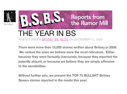 Britney Spears, BS Report