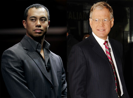 Tiger Woods, David Letterman