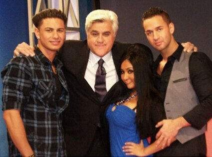 Mike 'The Situation' Sorrentino, Nicole 'SNOOKI' Polizzi, Pauly ' Pauly D' Delvecchio, Jay Leno