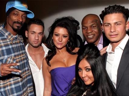 Mike 'The Situation' Sorrentino, Jenni 'J-WOWW' Farley, Nicole 'SNOOKI' Polizzi, Pauly ' Pauly D' Delvecchio, Snoop Dogg, Mike Tyson