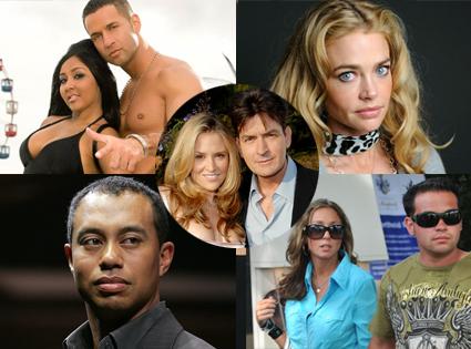 Snooki,The Situation Jersey Shore, Jon Gosselin, Hayley Glassman, Denise Richards, Tiger Woods, Charlie Sheen, Brooke Mueller