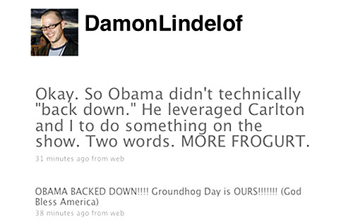 Damon Lindelof, Twitter