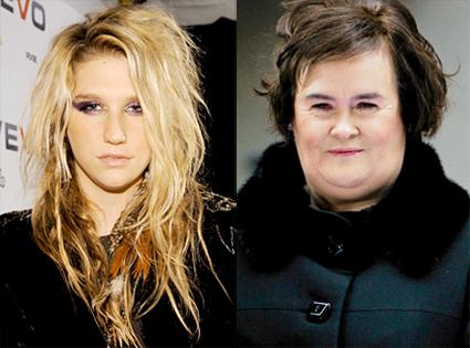 Kesha, Susan Boyle