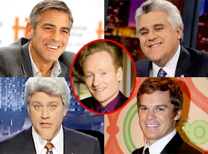 George Clooney, Jay Leno, Jimmy Kimmel, Michael C. Hall, Conan O'Brien