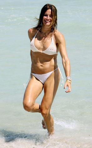 PHOTOS RHONYs Kelly Bensimon models a white bikini in Miami