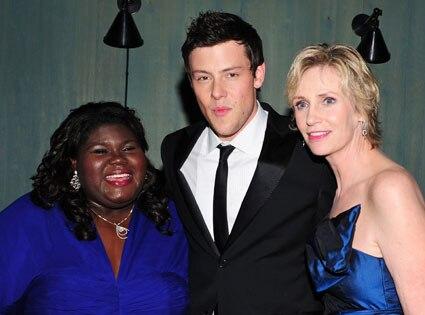Gabourey Sidibe, cory monteith, Jane Lynch