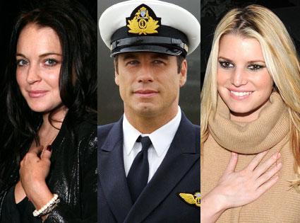 John Travolta, Jessica Simpson, Lindsay Lohan