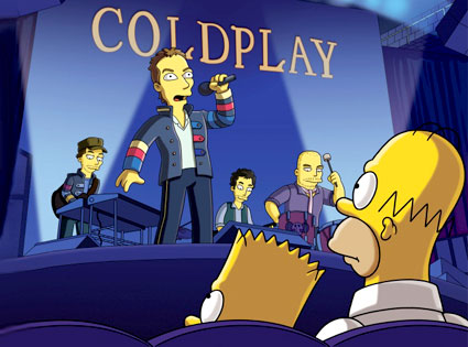 Chris Martin, Coldplay, The Simpsons