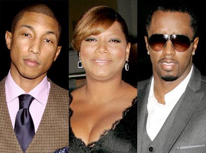 Pharrell, Queen Latifah, Sean 'Diddy' Combs