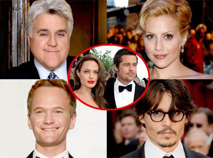 Jay Leno, Brittany Murphy, Neil Patrick Harris, Johnny Depp, Angelina Jolie, Brad Pitt