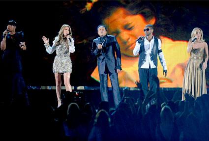 Jennifer Hudson, Celine Dion, Smokey Robinson, Usher, Carrie Underwood