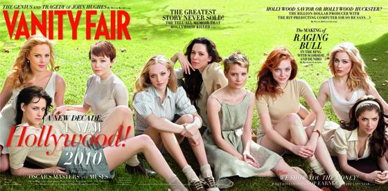 Abbie Cornish, Kristen Stewart, Carey Mulligan, Amanda Seyfried, Rebecca Hall, Mia Wasikowska, Emma Stone, Evan Rachel Wood, Anna Kendrick, Vanity Fair Cover