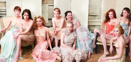 Carey Mulligan, Kristen Stewart, Abbie Cornish, Mia Wasikowska,  Amanda Seyfried, Rebecca Hall, Emma Stone, Evan Rachel Wood, Anna Kendrick, Vanity Fair
