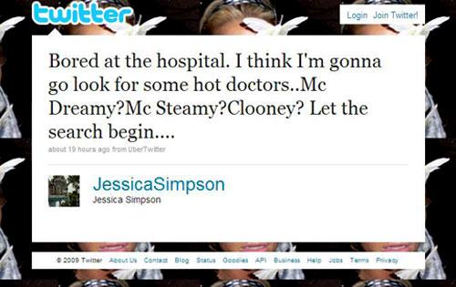 Jessica Simpson, Twitter
