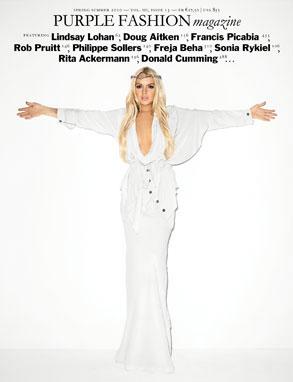 Lindsay Lohan, Purple Fashion, Cover