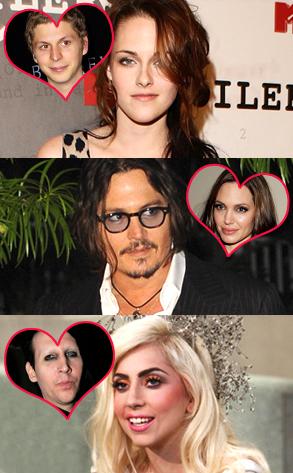 Kristen Stewart, Michael Cera, Johnny Depp, Angelina Jolie, Lady Gaga, Marilyn Manson