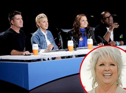 American Idol Judges, Simon Cowell, Ellen DeGeneres, Kara DioGuardi, Randy Jackson, Paula Deen