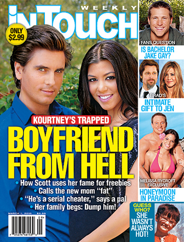 Kourtney Kardashian, Scott Disick, In Touch, Cover