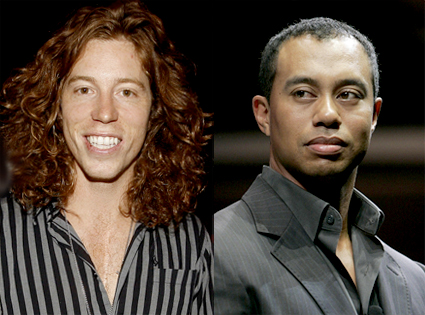 Shaun White, Tiger Woods