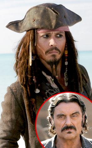 Johnny Depp, Pirates of the Caribbean, Ian McShane