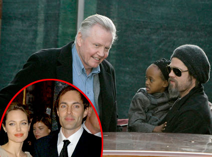 Zahara Jolie-Pitt, Brad Pitt, Jon Voight, Angelina Jolie, James Haven