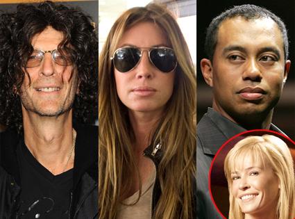 Howard Stern, Rachel Uchitel, Tiger Woods, Chelsea Handler