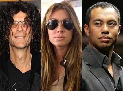 Howard Stern, Rachel Uchitel, Tiger Woods