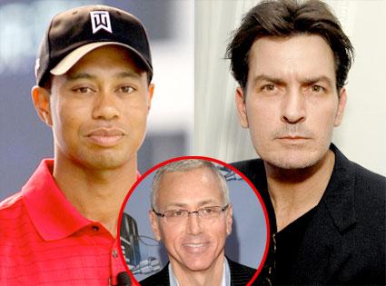 Tiger Woods, Charlie Sheen, Dr. Drew Pinsky