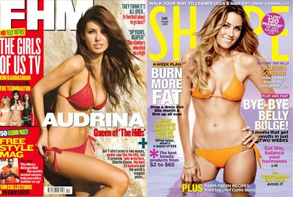 Audrina Patridge, FHM Cover, Lauren Conrad, Shape Cover