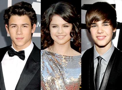 Nick Jonas, Selena Gomez, Justin Bieber