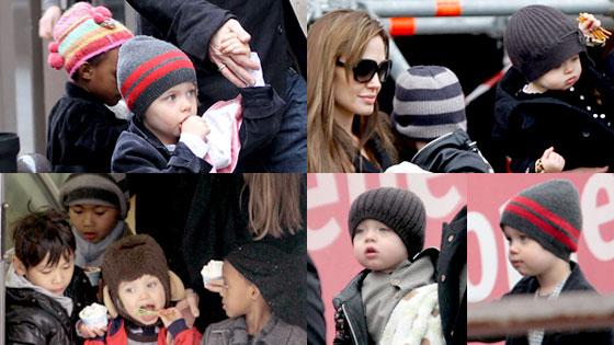 Angelina Jolie, Shiloh Jolie-Pitt, Zahara Jolie-Pitt, Knox Jolie-Pitt, Vivienne Jolie-Pitt, Maddox Jolie-Pitt, Pax Jolie-Pitt