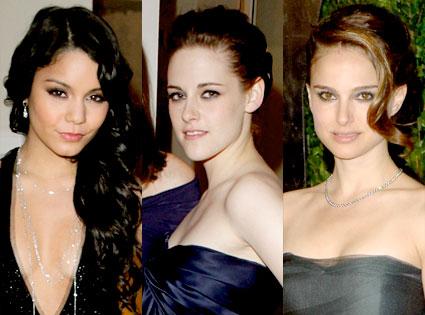 Vanessa Hudgens, Kristen Stewart, Natalie Portman