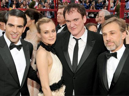 Eli Roth, Diane Kruger, Quentin Tarantino, Christoph Waltz