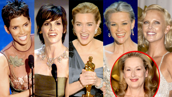 Halle Berry, Hilary Swank, Kate Winslet, Reese Witherspoon, Charlize Theron, Meryl Streep