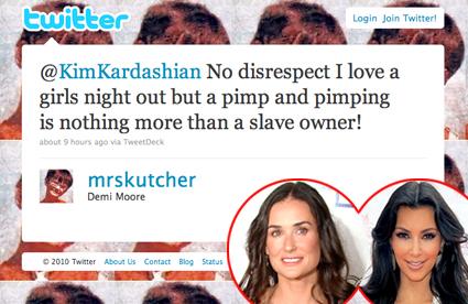 Demi Moore, Kim Kardashian, Twitter