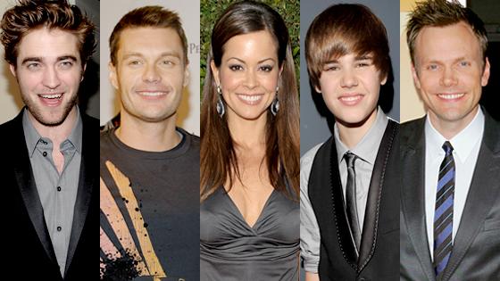Robert Pattinson, Ryan Seacrest, Brooke Burke, Justin Bieber, Joel McHale