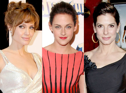 Angelina Jolie, Kristen Stewart, Sandra Bullock