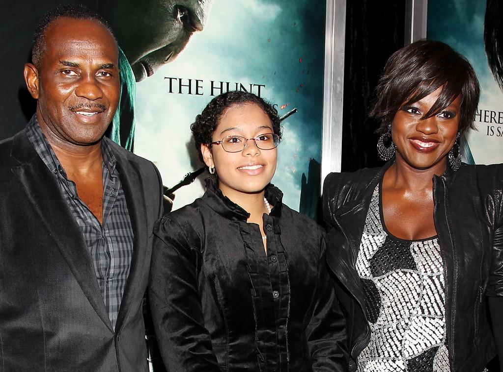 Viola Davis with family